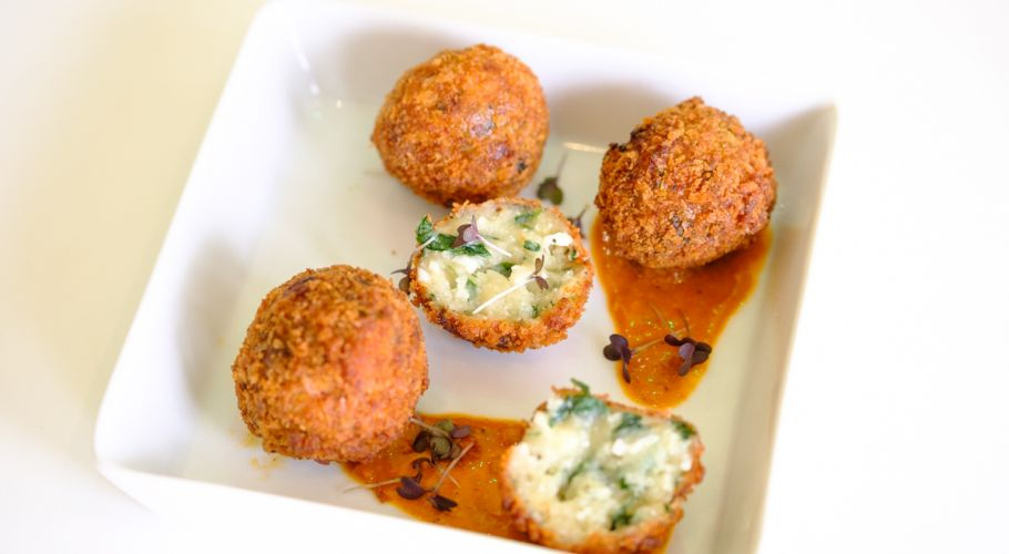 Watercress and Old Winchester Croquettes